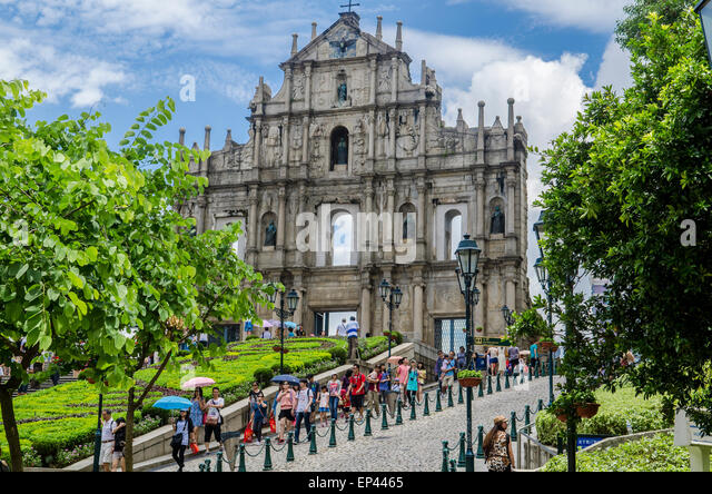 Ruin of Sao Paulo Church, Old city of Macau, China - Stock Image