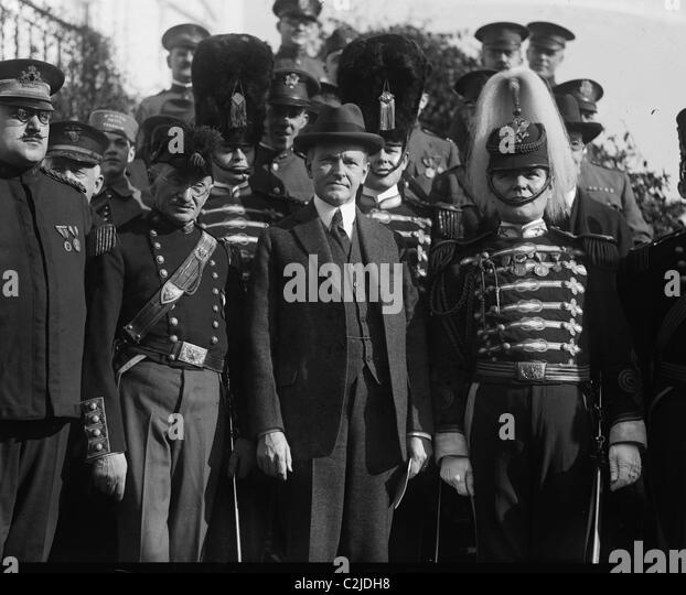 Pennsylvania National Guard Unit Visit President Coolidge - Stock Image