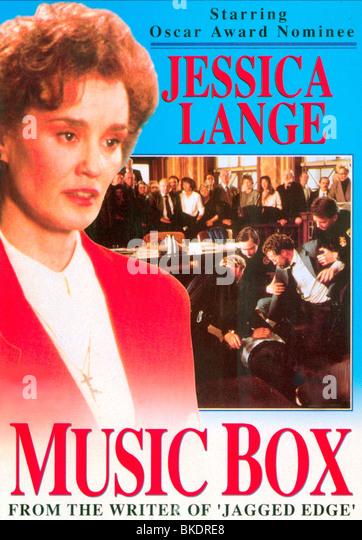 MUSIC BOX -1989 POSTER - Stock-Bilder