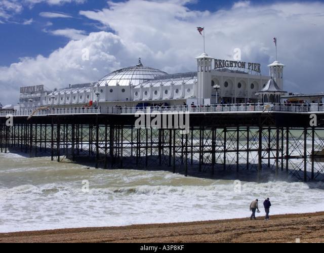 Brighton Pier, formally the Palace Pier - Stock Image