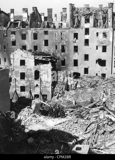 The destroyed Munich, 1944 - Stock Image