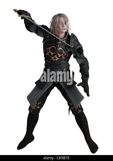 Dark Lord Fighting - Stock Image