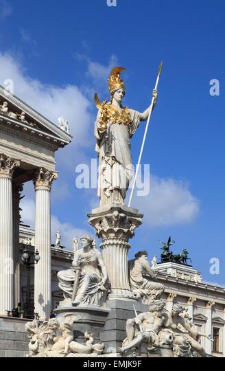 Austria, Vienna, Parliament, - Stock Image
