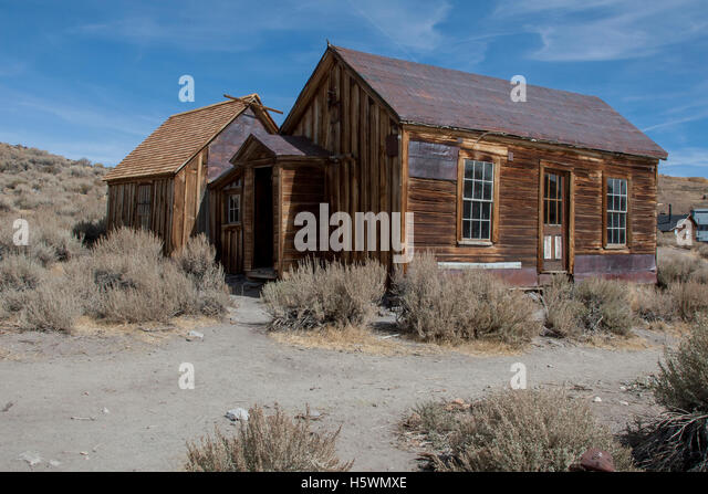 Bodie, California, a ghost town that was once a booming mining town. - Stock Image