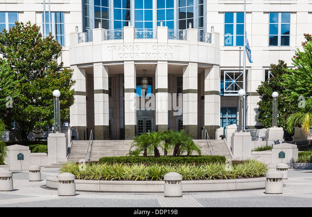 Orange County Courthouse in downtown Orlando, Florida - Stock Image