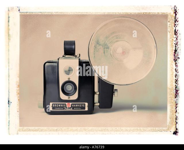 kodak browine camera - Stock Image