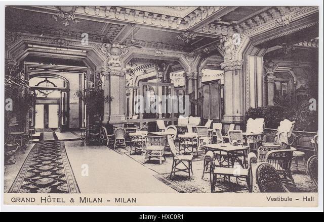 Grand Hotel et de Milan, Milan, Italy, Vestibule / Hall - Stock Image