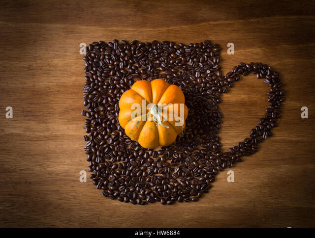 Pumpkin spice coffee - Stock Image