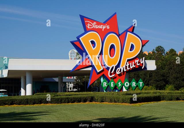 Disney's Pop Century Resort, Hotel, Orlando Florida - Stock Image