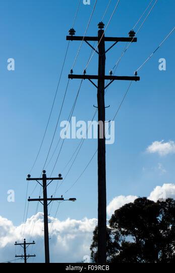 Overhead Power Line : Overhead power lines stock photos