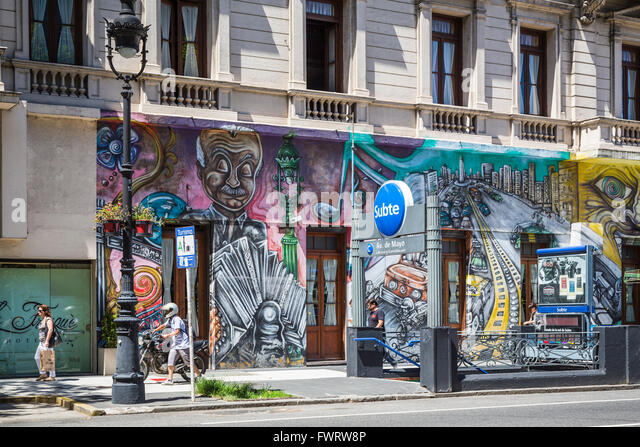 Street art in Buenos Aires, Argentina, South America. - Stock Image