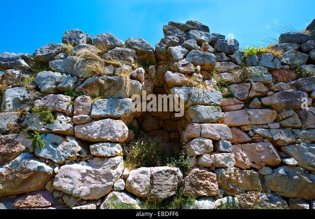 ancient antiquity arch Archaeological site archaeology Bronze Age building city civilization color image corbel - Stock-Bilder