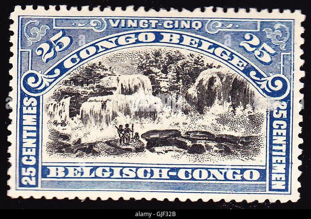 Belgian congo 1915 issue-25c - Stock-Bilder