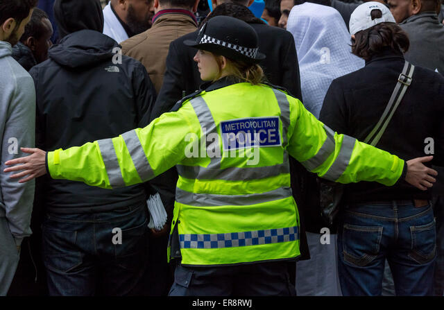 London, UK. 29th May, 2015. Islamists respond to the Queen's Speech Credit:  Guy Corbishley/Alamy Live News - Stock Image