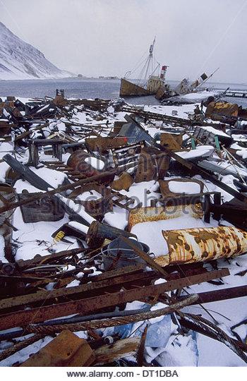 Grytviken South Georgia Island Abandoned whaling station Grytviken South Georgia - Stock Image