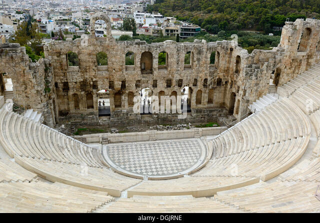 Odeon of Herodes Atticus, Athens, Greece, Europe - Stock Image
