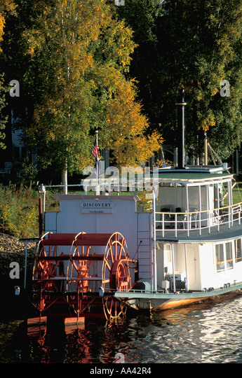 Alaska Fairbanks Discovery paddle wheel - Stock Image