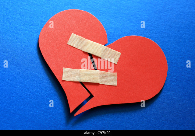 Mend a broken heart - Stock Image