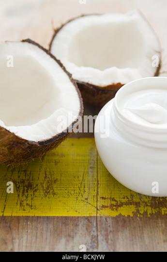 Coconut and cream - Stock Image