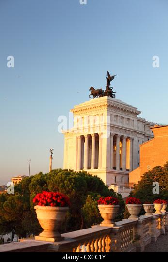 Rome, Capitol hill, Piazza del Campidoglio, Emanuel, Viktor, Vittorio Emanuele II Monument - Stock Image
