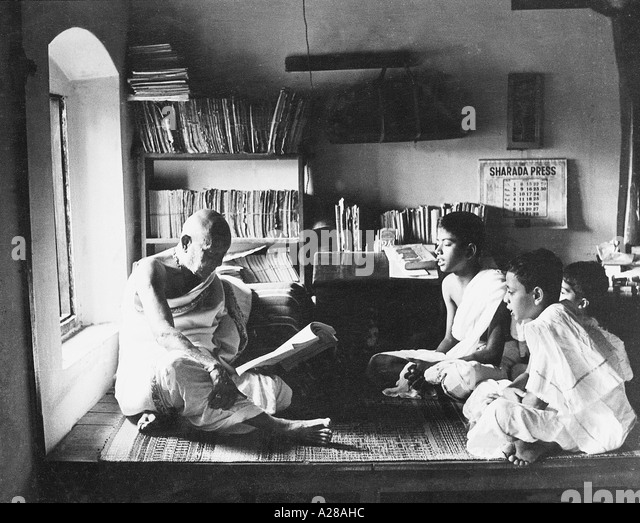 TSS76387 Scholar musician Krishna Iyengar in his study India - Stock Image