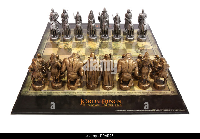 Chess set stock photos chess set stock images alamy - Lord of the rings chess set for sale ...
