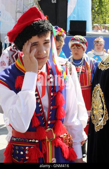Festival of national cultures Friendship Bridge - Stock-Bilder