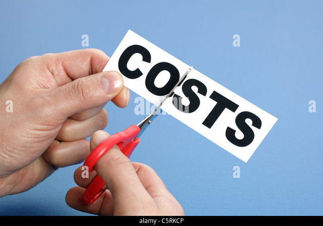 Cutting costs - Stock Image