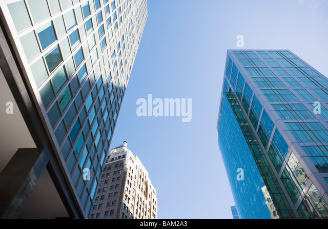 Skyscrapers in downtown vancouver - Stock Image