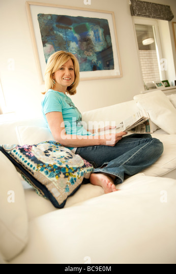 Welsh television presenter and TV personality Angharad Mair - Stock Image