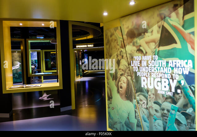 Cape Town South Africa African V & A Victoria Alfred Waterfront Springbok Rugby Experience Museum sports inside - Stock Image