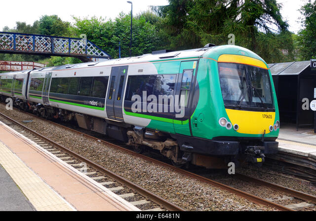Passenger train trains London Midland Uk - Stock Image
