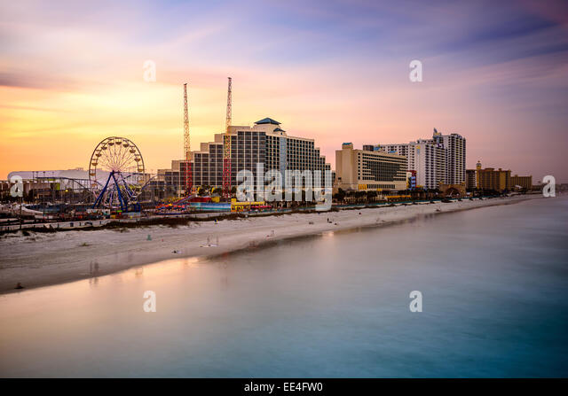 Daytona Beach, Florida, USA beach and resorts cityscape. - Stock-Bilder