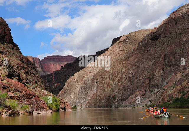 Dory travel on the Colorado River, Colorado, United States of America, North America - Stock Image
