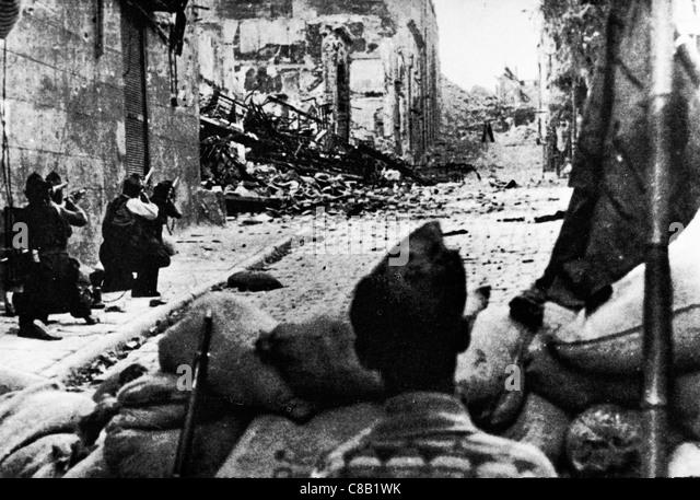 Alcazar siege of Toledo,the Spanish Civil War,1936 - Stock Image