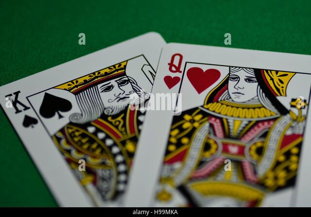card, peak king, queen, game, poker, gambling, - Stock Image