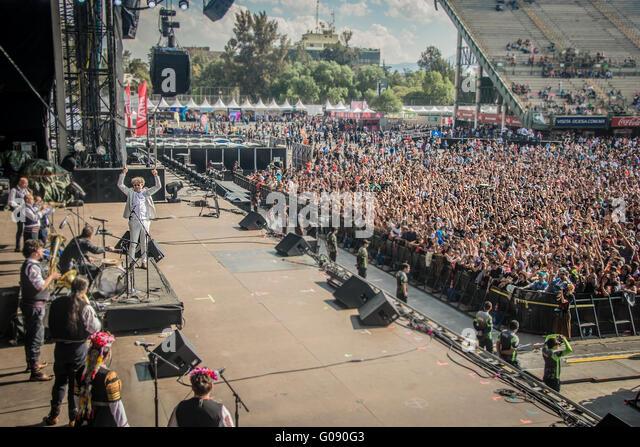 Goran Bregovic giving a concert in the festival vive latino 2016, in Mexico city in Foro sol - Stock Image
