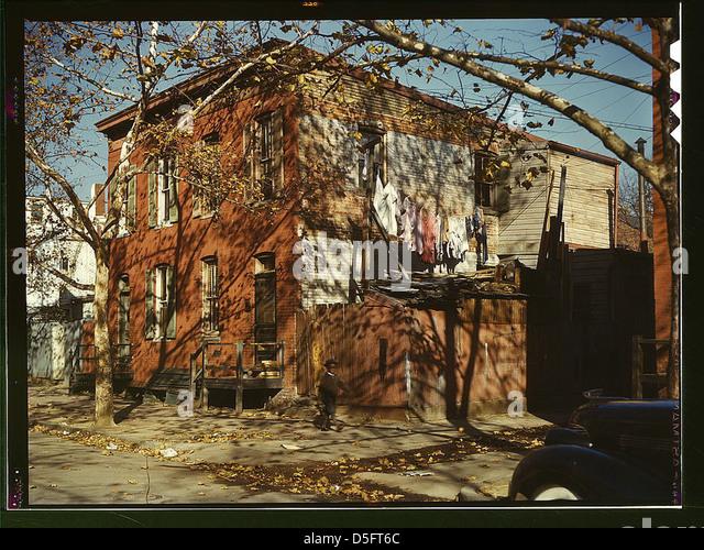 [House in Washington, D.C.?] (LOC) - Stock Image