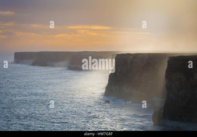 The Great Australian Bight - Bunda Cliffs - Nullarbor Plains, South Australia - Stock-Bilder