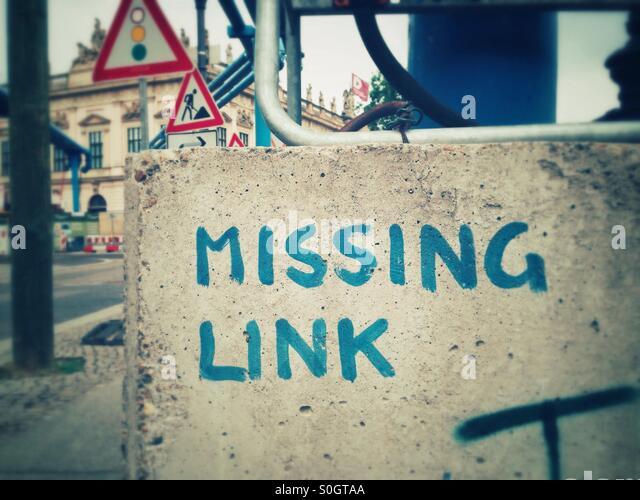Missing link - Stock-Bilder