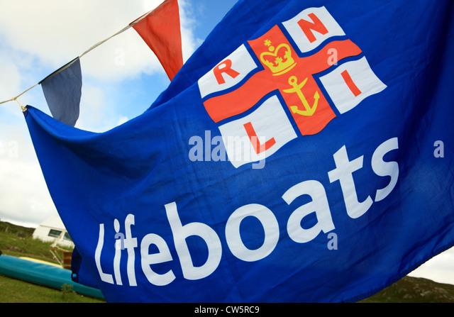 RNLI Lifeboats flag - Stock Image