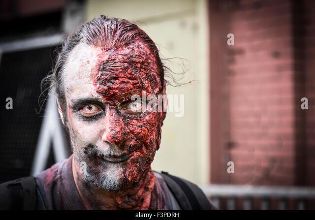 Zombies. Zombie. The London Zombie Walk. - Stock Image