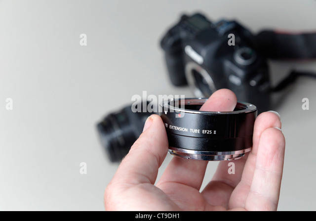 Extension Tube for a camera - Stock Image