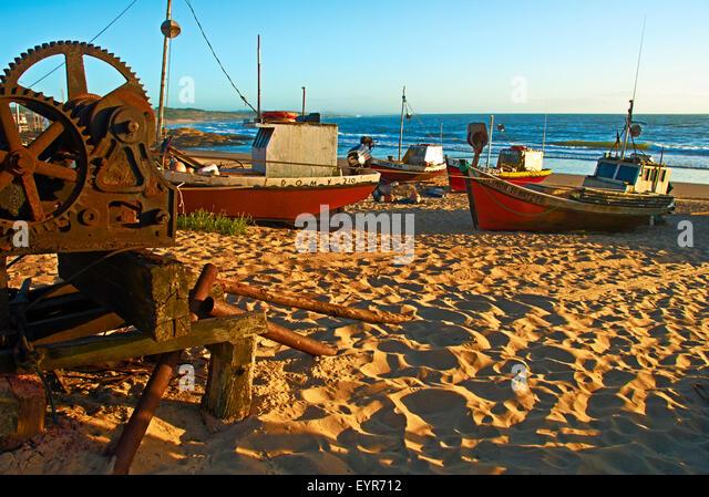 Fishing Boats, Punta del Diablo, Uruguay - Stock Image
