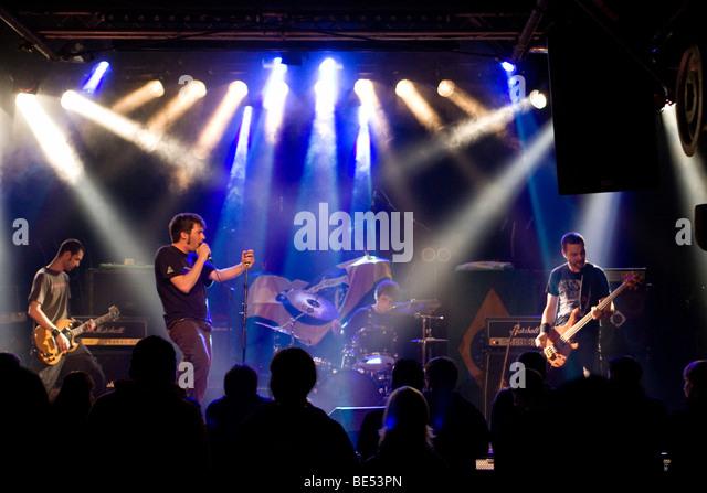 Swiss trash metal band Crash League live at the Schueuer, Lucerne, Switzerland - Stock Image