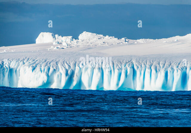 Iceberg floating in the South Orkney Islands, Antarctica, Polar Regions - Stock Image