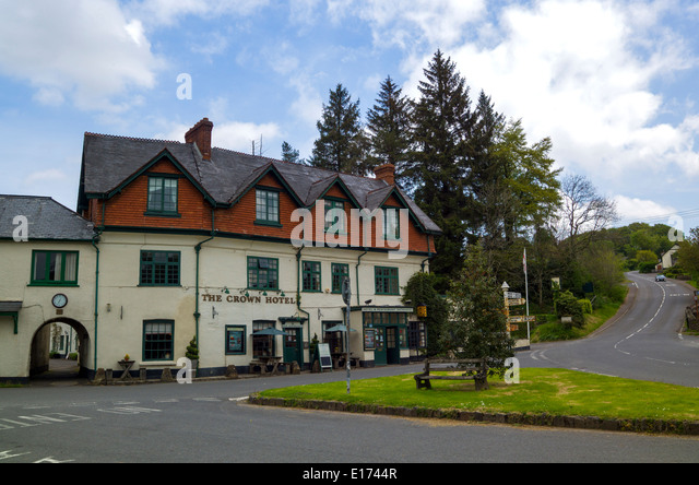 The Crown Hotel Exford in the the centre of Exmoor, Somerset - Stock Image