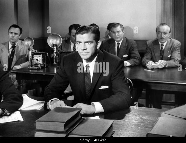 Dana Andrews / Beyond a Reasonable Doubt / 1956 directed by Fritz Lang - Stock Image
