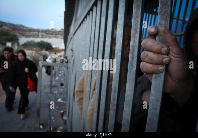 Palestine - Bethlehem checkpoint and occupation wall - palestinian occupied territories - Stock Image