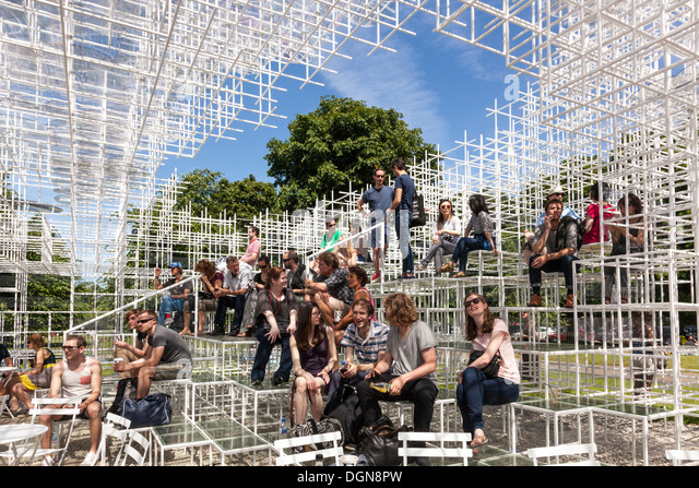 Serpentine Pavilion 2013 by Sou Fujimoto Architects, Kensinton Gardens, Hyde Park, London - Stock Image